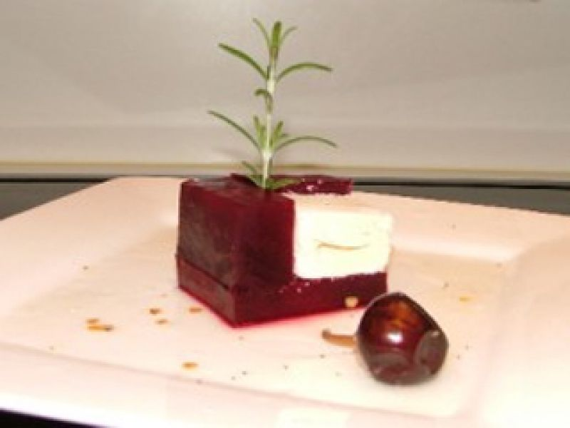 Braised Beet with Feta Cheese and Lime Juice