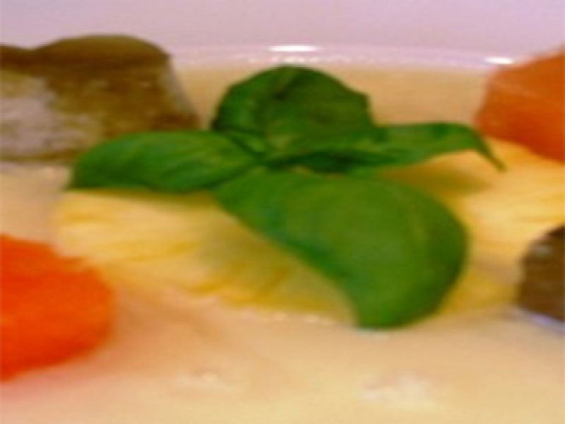 Pineapple Soup with Herb Gelatins