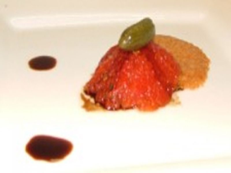 Tomato Confit and Parmesan Cheese Cookie