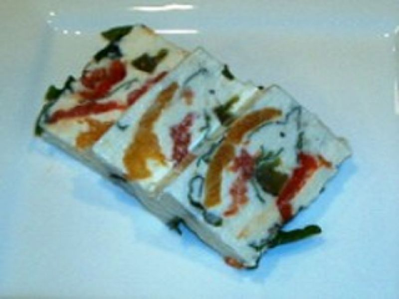 Basil with Tomato-Goat Cheese Terrine